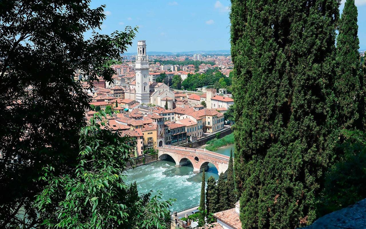 Punto panoramico Verona da Castel San Pietro